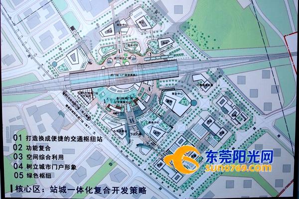 虎门高铁站站场改造后示意图