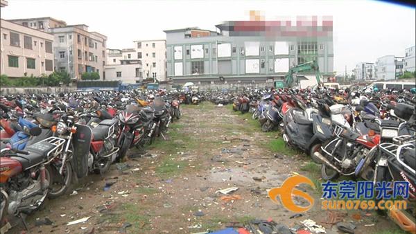 横沥:公开销毁2784辆非法摩托车、电动车